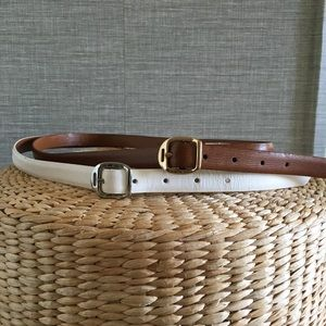 Ralph Lauren Genuine Leather Belts Set of 2 Size M